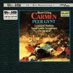 【FIM 絕版名片】比才:卡門組曲 ∕ 葛利格:皮爾金組曲 ( Ultra HD ,限量版CD)<br>史拉特金 指揮 聖路易交響管弦樂團<br>Bizet:Carmen Suite. Grieg:Peer Gynt Suite<br>Leonard Slatkin  Saint Louis Symphony Orchestra