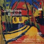 布拉姆斯:單簧管奏鳴曲和單簧管三重奏  ( 雙層 SACD )<br>  羅伯特.奧貝萊格內-單簧管<br>  麥可.修許-鋼琴<br>  諾伯特.安格-大提琴<br>Brahms: Clarinet Sonatas & Clarinet Trio (SACD)<br>  Robert Oberaigner (clarinet)<br>  Michael Schoch (piano)<br>  Norbert Anger (cello)