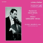 LSC-2553 蕭士塔高維契-大提琴奏鳴曲、舒伯特-阿貝鳩奈奏鳴曲  ( 200 克 LP )<br>丹尼爾.謝夫蘭:大提琴<br>莉迪亞.派翠斯蓋雅:鋼琴<br>Daniel Shafran and Lydia Pecherskaya<br>Shostakovich: Cello Sonata<br>Schubert: Arpeggione Sonata