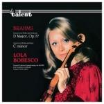 布拉姆斯:D大調小提琴協奏曲  ( 德國版 CD )<br>小提琴:博貝絲庫<br>鋼琴:雅克.姜堤<br>塞勒布里耶 指揮 比利時廣播新交響樂團<br>Brahms: Concerto for Violin and Orchestra in D Major, Op. 7<br>Mendelssohn: Concerto for Violin and Orchestra, E Minor Op. 64<br>Lola Bobesco