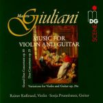 朱里亞尼:吉他與小提琴音樂集<br>Mauro Giuliani(1781~1829): Music for Violin and Guitar