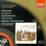 【絕版名片】理察史特勞斯:唐吉訶德&舒曼:大提琴協奏曲(世紀原音24)<br>羅斯托波維奇, 大提琴 <br>卡拉揚指揮柏林愛樂&伯恩斯坦指揮法國國家管弦樂團<br>Richard Strauss:Don Quixote&Schumann:Cello Concerto<br>Rostropovitch, cello<br>Herbert von Karajan, Be
