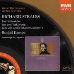 【絕版名片】理查史特勞斯:英雄生涯、死與變容、莎樂美劇樂(世紀原音104)<br>魯道夫肯培(指揮)德勒斯登國立管弦樂團<br>Richrad Strauss : Ein Heldenleben ; Tod und Verlarung etc.<br>Kempe