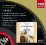 韋伯:單簧管協奏曲與五重奏、小協奏曲 (莎賓梅耶 單簧管) <br>   Weber : Clarinet Concertos 1 & 2/Concertino in E flat/Clarinet Quintet / Sabine Meyer