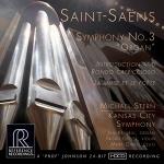 【線上試聽】聖桑:第三號交響曲「管風琴」: 序奏與迴旋隨想曲,作品 28 號、詩人與繆思,作品 132 號 ( CD )<br>麥可.史坦 指揮 堪薩斯城市交響樂團<br>Saint-Saens: Symphony No. 3 Organ<br>Kansas City Symphony, Michael Stern<br>RR136
