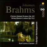 布拉姆斯: 室內樂集 / 萊比錫弦樂四重奏, 豎笛:卡爾.萊斯特<br>B小調豎笛五重奏(作品115號)、A小調弦樂四重 奏(作品51,2號)<br>Brahms: Chamber Music