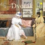德弗札克弦樂四重奏 -- 美國  ( 雙層 SACD ) <br> 萊比錫弦樂四重奏, 低音大提琴:愛洛斯.波許<br>Antonin Dvorak (1841-1904) String Quintet op. 97 String Quartet op. 96 <American> Leipziger Streichquartett