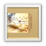 Art Vinyl 創意黑膠掛框【亮白】+ 中外經典電影小提琴金曲 ( 180 克 LP )