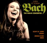 【線上試聽】巴哈:小提琴協奏曲<br>Bach:The Violin Concertos<br>小提琴:拉拉.聖薔 (Lara St. John) / 史考特.聖薔 (Scott St. John)<br>雙簧管:雅莉安娜.Ghez (Ariana Ghez)<br>紐約巴哈樂團 (New York Bach Ensemble)