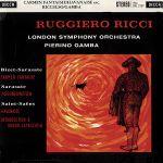 【黑膠專書 #097】沙拉薩泰:卡門幻想曲、流浪者之歌,聖桑:哈瓦納斯舞曲、前奏與隨想迴旋曲( 180 克 LP ) <br>黎奇,小提琴 / 甘巴 指揮 倫敦交響樂團 <br>Ruggiero Ricci: Carmen Fantasie<br>Ricci / LSO /Gamba