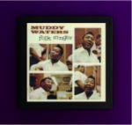 Art Vinyl 創意黑膠掛框【純黑】+ 馬帝‧華特斯/ 民謠歌手 (200克LP)<br>Muddy Waters - Folk Singer