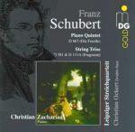 舒伯特:鋼琴五重奏「鱒魚」、弦樂三重奏<br>查哈里亞斯,鋼琴/萊比錫弦樂四重奏<br>Franz Schubert: Quintet D 667〈Die Forelle〉<br>Zacharias, piano / Leipziger Streichquartett