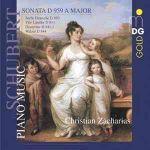 Schubert 舒伯特:第 20 號鋼琴奏鳴曲 D959、舞曲之鋼琴音樂集<br>查哈里亞斯 Zacharias,鋼琴