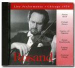 【點數商品】亞倫羅桑:1970 芝加哥現場演出實況<br> AARON ROSAND, VIOLIN /  LIVE PERFORMANCE: CHICAGO 1970