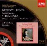 【絕版名片】德布西、拉威爾、史特拉汶斯基:弦樂四重奏作品(世紀原音84)<br>阿班貝爾格弦樂四重奏<br>Debussy / Ravel / Stravinsky<br>Alban Berg Quartett
